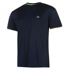 Tennis shirts - Tenniskleding - kopen - Dunlop AC Club Crew T-shirt Heren – Marineblauw / Antraciet