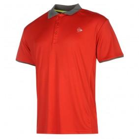Tennis shirts - Tenniskleding - kopen - Dunlop AC Club Polo Heren – Rood / Antraciet