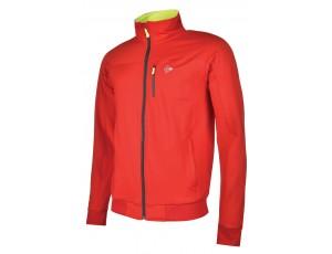 Tennis shirts - Tenniskleding - kopen - Dunlop AC Club Trainingsjasje Heren – Rood / Antraciet