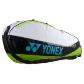 Tennis tassen - Tennistassen - kopen - Yonex Club – Tennistas – Tot 3 rackets – Wit/Groen/Zwart