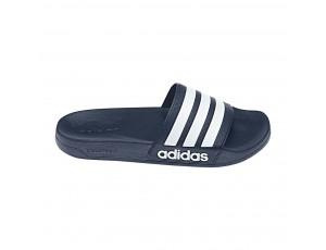 Tennisschoenen - Tennisschoenen dames - kopen - adidas Adilette Cloudfoam slippers marine/wit