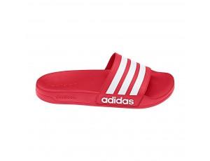 Tennisschoenen - Tennisschoenen dames - kopen - adidas Adilette Cloudfoam slippers rood/wit