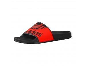 Tennisschoenen - Tennisschoenen dames - kopen - Adidas Adilette Trefoil slippers zwart/rood