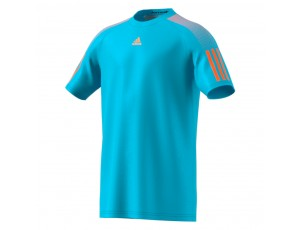 Tenniskleding - Tenniskleding junioren - kopen - adidas Barricade tennisshirt jongens aqua/oranje