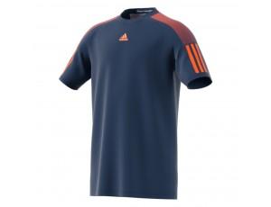 Tenniskleding - Tenniskleding junioren - kopen - adidas Barricade tennisshirt jongens marine/oranje