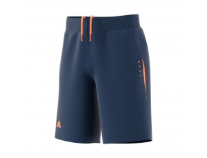 Tenniskleding - Tenniskleding junioren - kopen - adidas Barricade tennisshort jongens marine/oranje