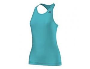 Tenniskleding - Tenniskleding dames - kopen - adidas Basic Solid Tan tennistop dames turquoise