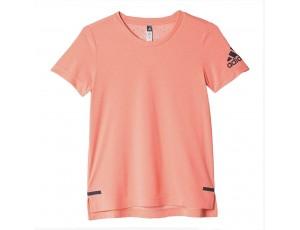 Tenniskleding - Tenniskleding junioren - kopen - adidas ClimaChill shirt meisjes zalm
