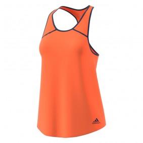 Tenniskleding - Tenniskleding dames - kopen - adidas Club Tank top dames oranje/marine