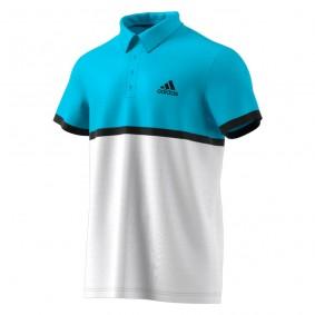 Tenniskleding - Tenniskleding heren - kopen - adidas Court tennispolo heren blauw/wit/zwart