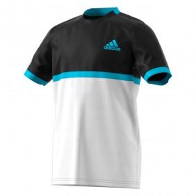 Tenniskleding - Tenniskleding heren - kopen - adidas Court tennisshirt heren zwart/wit/blauw