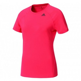 Tenniskleding - Tenniskleding dames - kopen - adidas D2M Solid shirt dames roze