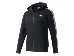 Tenniskleding - Tenniskleding heren - kopen - adidas Essential 3-Stripes Fleece vest heren zwart/wit