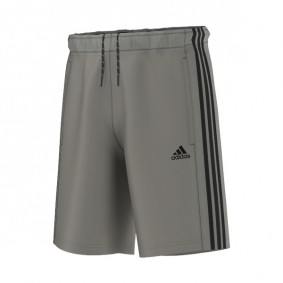 Tenniskleding - Tenniskleding heren - kopen - Adidas Essentials 3-Stripes Woven short heren grijs/zwart