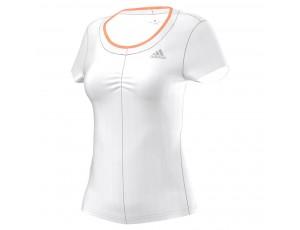Tenniskleding - Tenniskleding dames - kopen - Adidas Premium tennisshirt dames wit/oranje