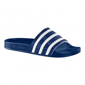 Tennisschoenen - Tennisschoenen heren - kopen - Adidas slipper Adilette blauw/wit