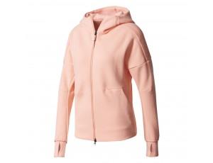 Tenniskleding - Tenniskleding dames - kopen - adidas ZNE hoody vest dames zalm