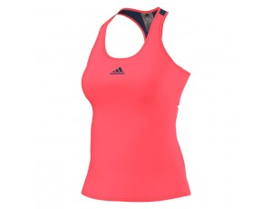 Tenniskleding - Tenniskleding dames - kopen - adidas Pro tanktop dames roze/marine
