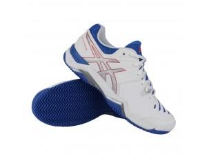 Tennisschoenen - Tennisschoenen dames - kopen - Asics Gel-Challenger 10 Clay tennisschoenen dames wit/blauw