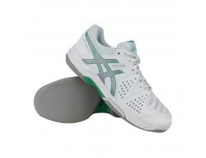 Tennisschoenen - Tennisschoenen dames - kopen - Asics Gel-Dedicate 4 indoor tennisschoenen dames wit/zilver/groen