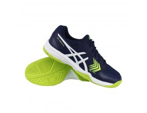 Tennisschoenen - Tennisschoenen heren - kopen - Asics Gel-Dedicate 5 omni tennisschoenen heren blauw/lime