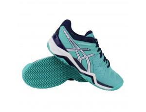 Tennisschoenen - Tennisschoenen dames - kopen - Asics Gel-Resolution 6 Clay tennisschoenen dames groen/blauw/wit