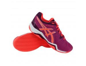 Tennisschoenen - Tennisschoenen dames - kopen - Asics Gel-Resolution 6 Clay tennisschoenen dames roze/oranje