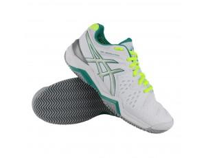 Tennisschoenen - Tennisschoenen dames - kopen - Asics Gel-Resolution 6 Clay tennisschoenen dames wit/groen