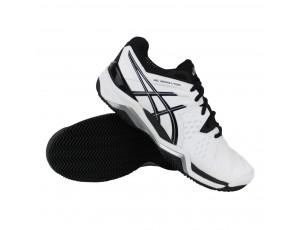 Tennisschoenen - Tennisschoenen heren - kopen - Asics Gel-Resolution 6 Clay tennisschoenen heren wit/zwart