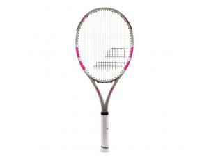 Tennisrackets - Tennisrackets heren - kopen - Babolat Flow Lite tennisracket senior grijs/roze
