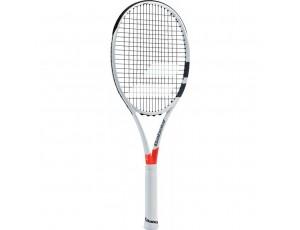 Tennisrackets - Tennisrackets heren - kopen - Babolat Pure Strike 100 tennisracket wit/rood