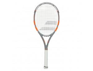 Tennisrackets - Tennisrackets heren - kopen - Babolat Rival 100 tennisracket grijs/oranje