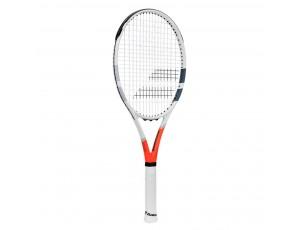 Tennisrackets - Tennisrackets heren - kopen - Babolat Strike G Strung tennisracket wit/rood