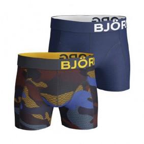Tennis outlet - kopen - Björn Borg Contrast Camo boxershorts 2-pack heren blauw/bruin