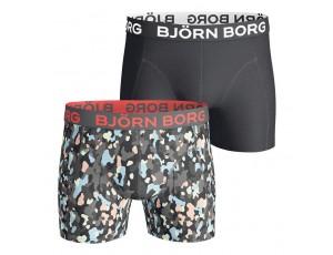 Boxershorts - kopen - Björn Borg Winter boxershort 2-pack heren zwart/print