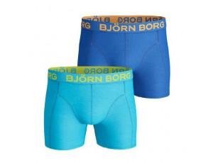 Tennis outlet - kopen - Björn Seasonal Solids boxershorts 2-pack heren blauw/aqua