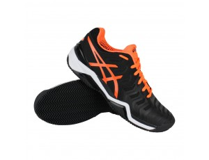 Tennisschoenen - Tennisschoenen heren - kopen - Asics Gel-Resolution Clay 7 tennisschoenen heren zwart/oranje