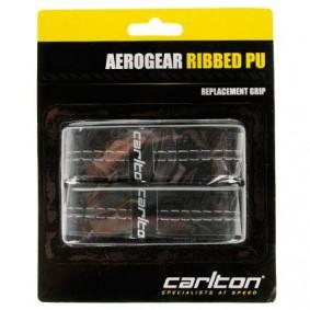 Tennis grips - kopen - Carlton Aerogear Ribbed PU Grip Zwart 2 pak