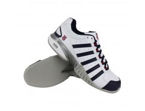Tennisschoenen - Tennisschoenen heren - kopen - K-Swiss Receiver III carpet tennisschoenen heren wit/marine/rood