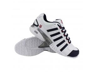 Tennisschoenen - Tennisschoenen heren - kopen - K-Swiss tennisschoenen Receiver III Omni wit/marine heren