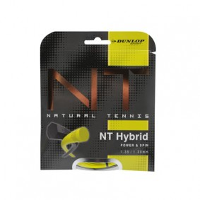 Tennis accessoires - Tennissnaren - kopen - Dunlop Revolution NT Hybrid 1.35 / 1.30 Set – Zwart / Geel