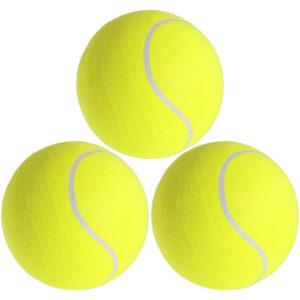 3x Mega tennisballen XXL geel 22 cm speelgoed/sportartikelen -