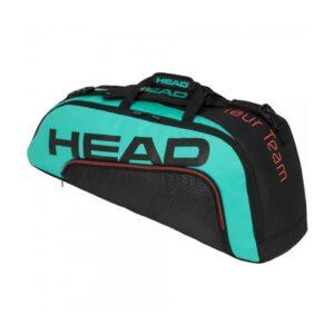 Head Tour Team Combi tennistas 6 rackets unisex zwart/turquoise/oranje -