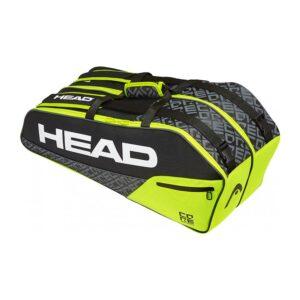 Head Core Combi tennistas 6 rackets unisex geel/zwart -