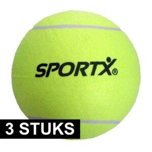 3x Jumbo super grote tennisballen XXL 22 cm -