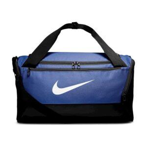 Nike Brasilia Small Duffel sporttas blauw/wit -