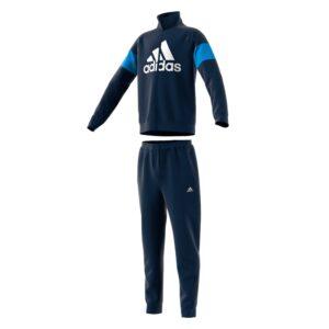 adidas Badge Of Sport trainingspak jongens blauw/wit -