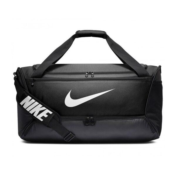 Nike Brasilia medium duffel sporttas zwart -