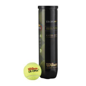 Wilson US Open 4st. tennisballen geel -